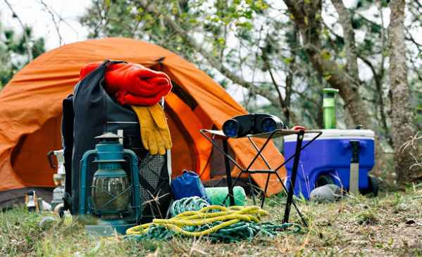 Rent a car and camping gear